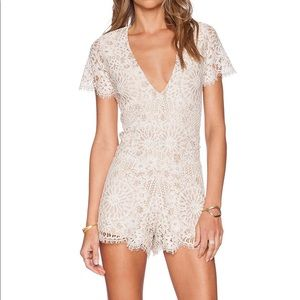 Alexis Alain lace romper size small